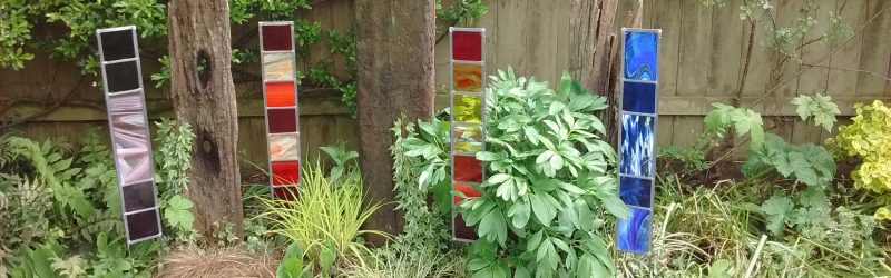 Maxine Chandlers Stained Glass Spectrum Garden Panels
